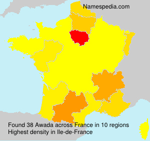 Surname Awada in France