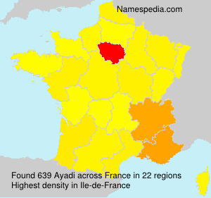 Surname Ayadi in France