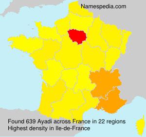 Surname Ayadi in France