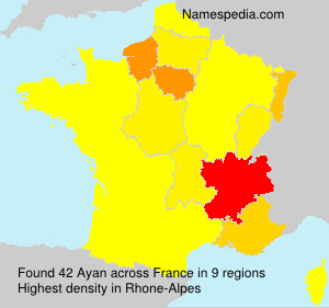 Surname Ayan in France