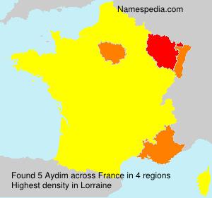 Familiennamen Aydim - France