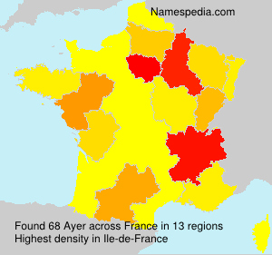Surname Ayer in France