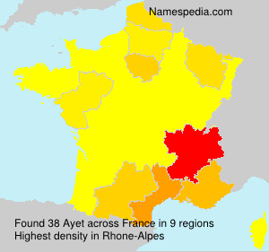 Familiennamen Ayet - France