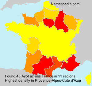 Surname Ayot in France