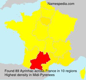 Surname Ayrinhac in France