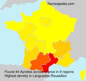 Surname Ayrolles in France