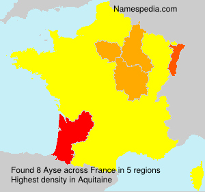 Surname Ayse in France