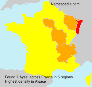 Surname Aysel in France