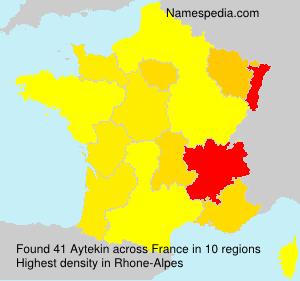 Surname Aytekin in France