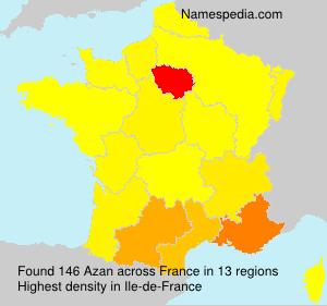 Surname Azan in France