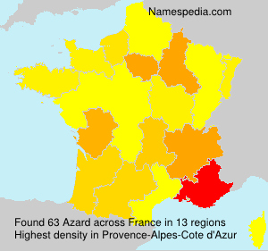 Surname Azard in France