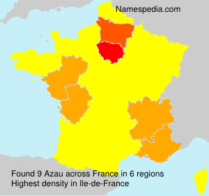 Surname Azau in France