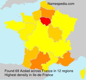 Surname Azdad in France