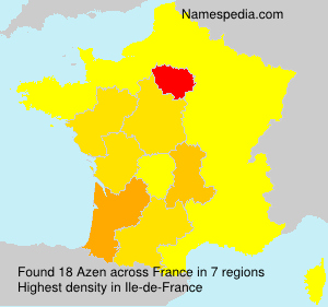 Surname Azen in France