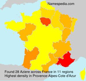 Familiennamen Aziere - France