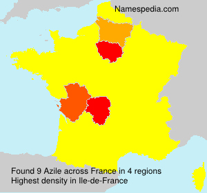 Surname Azile in France