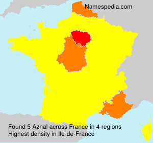 Surname Aznal in France