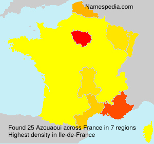 Surname Azouaoui in France