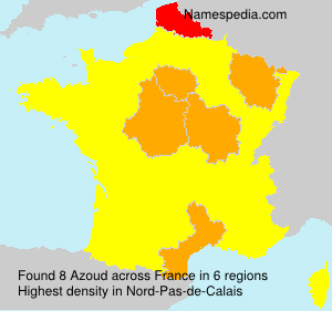 Surname Azoud in France