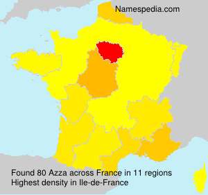 Surname Azza in France
