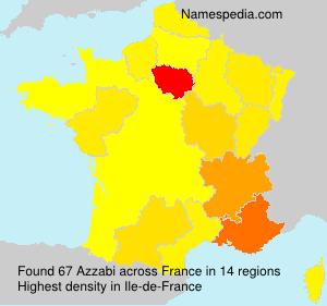 Surname Azzabi in France