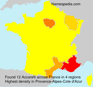 Surname Azzarelli in France