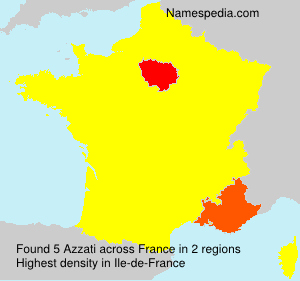 Familiennamen Azzati - France