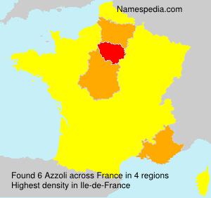 Surname Azzoli in France