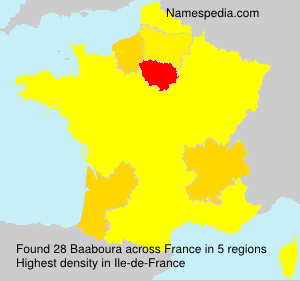 Surname Baaboura in France
