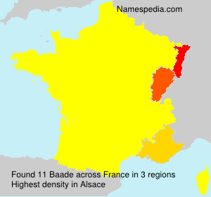 Surname Baade in France