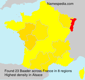 Surname Baader in France
