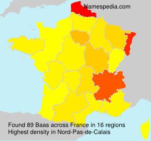 Surname Baas in France