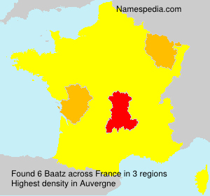 Surname Baatz in France