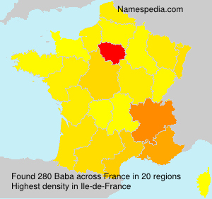 Surname Baba in France