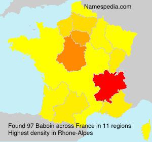 Familiennamen Baboin - France