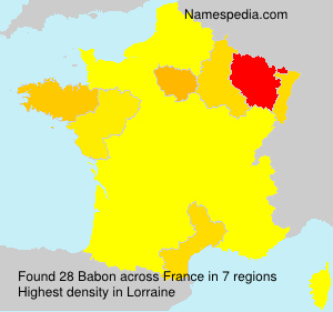 Surname Babon in France