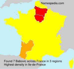Surname Babovic in France