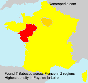 Surname Babuscu in France