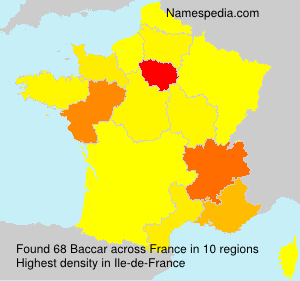 Surname Baccar in France