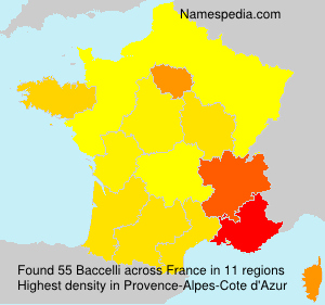 Surname Baccelli in France