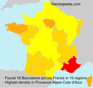 Surname Baccialone in France