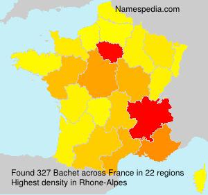 Surname Bachet in France