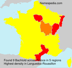 Surname Bachtold in France