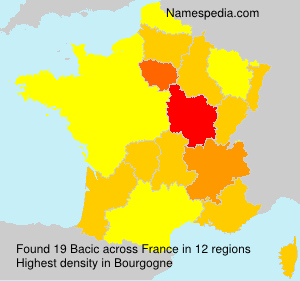 Familiennamen Bacic - France