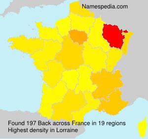 Surname Back in France