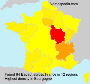 Familiennamen Badaut - France