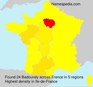 Surname Badouraly in France