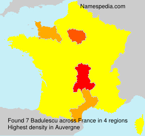 Surname Badulescu in France