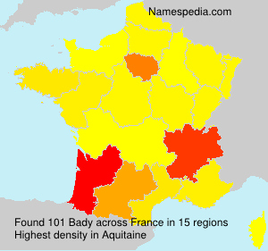 Surname Bady in France