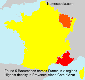 Surname Baeumchen in France